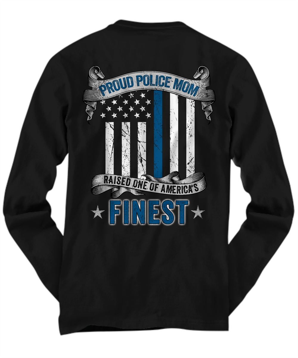 Proud Police Mom Thin Blue Line Shirt | Heroic Defender