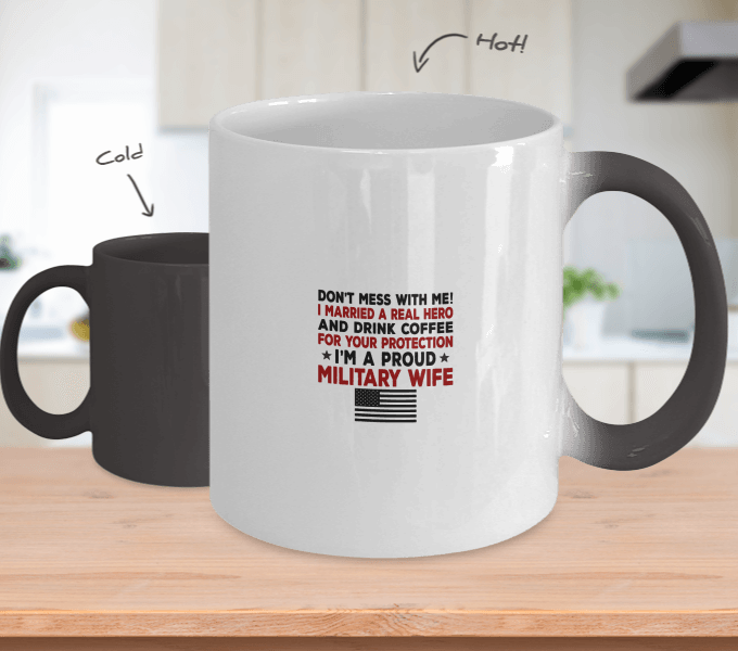 Proud Military Wife Color Changing Magic Mug | Heroic Defender