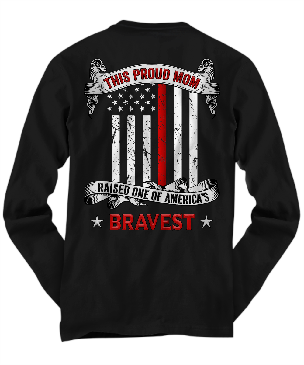 Proud Firefighter Mom Thin Red Line Shirt | Heroic Defender