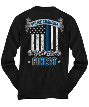 Proud Police Grandma Thin Blue Line Shirt | Heroic Defender