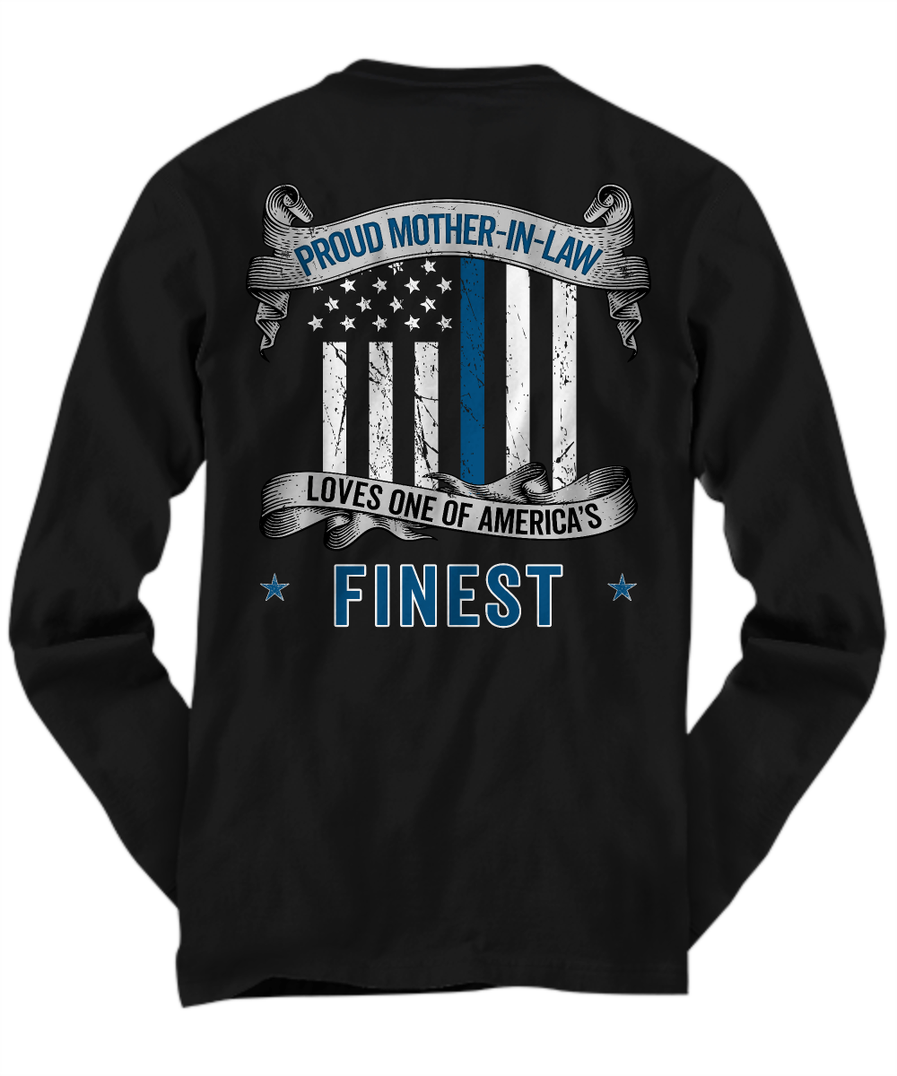 Proud Mother-In-Law Thin Blue Line Shirt | Heroic Defender