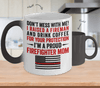 Proud Firefighter Mom Color Changing Magic Mug