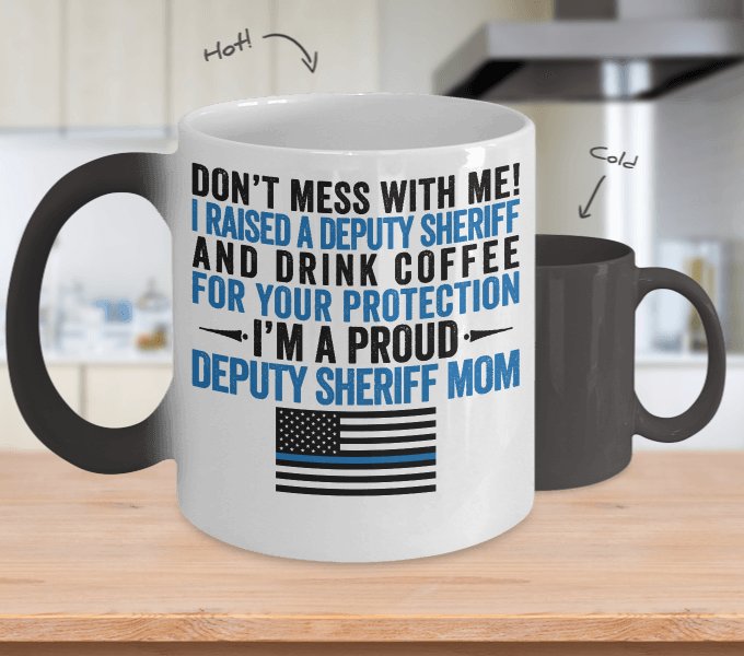 Deputy Sheriff Mom Color Changing Magic Mug - Heroic Defender