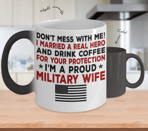 Proud Military Wife Color Changing Magic Mug