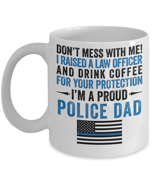 Proud Police Dad Coffee Mug | Heroic Defender