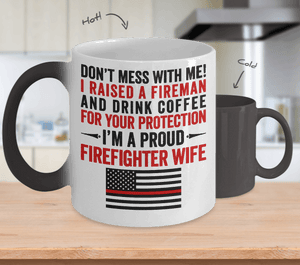 Proud Firefighter Wife Color Changing Magic Mug | Heroic Defender