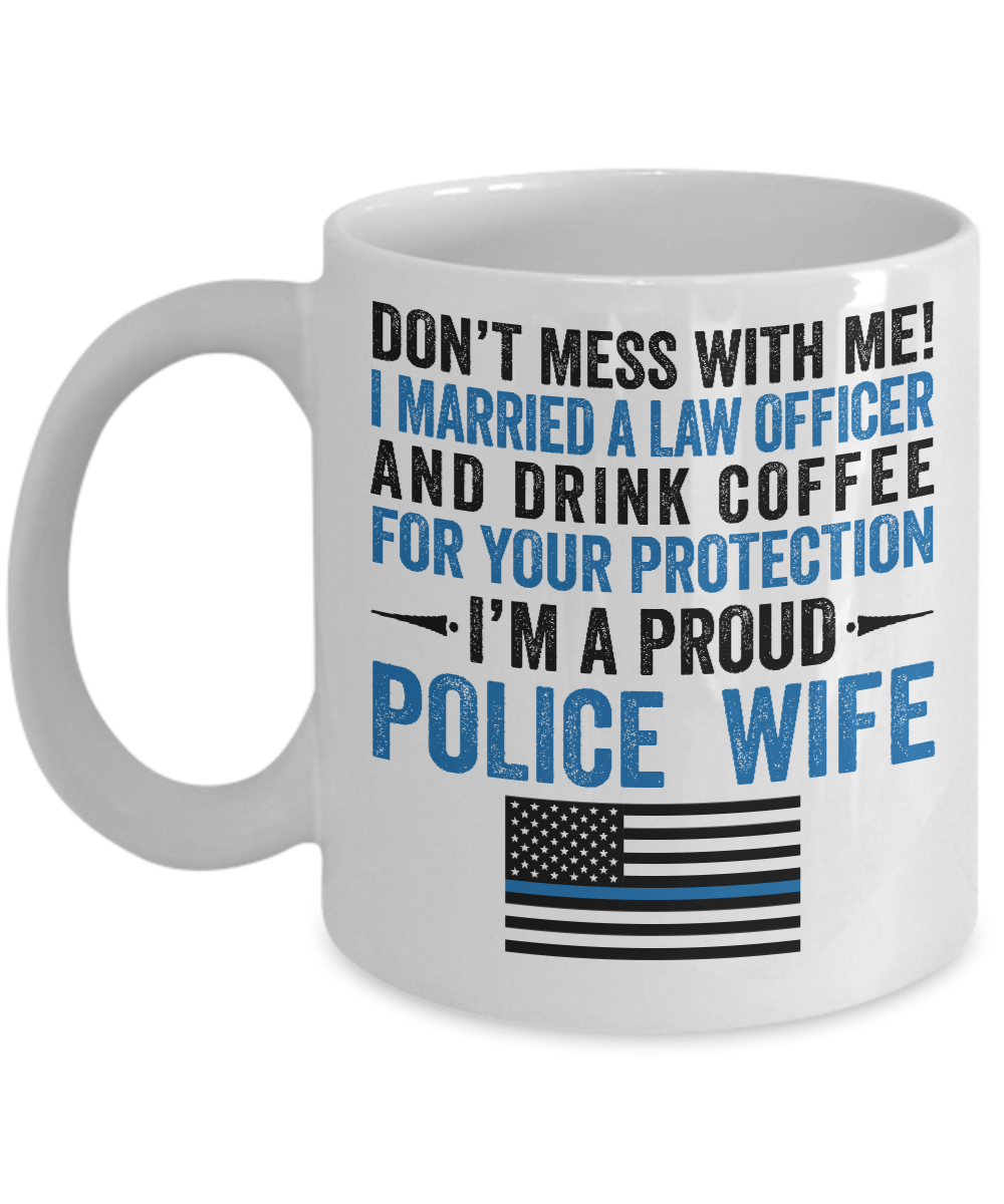 Proud Police Wife Coffee Mug | Heroic Defender