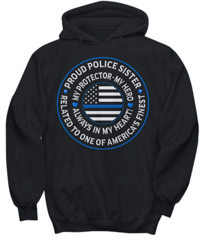 "Police Sister ""Always In My Heart"" Sweatshirt 
