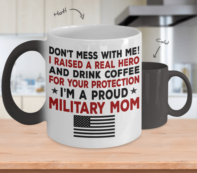 Proud Military Mom Color Changing Magic Mug | Heroic Defender
