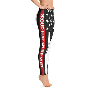 Thin Red Line Firefighter Wife Leggings
