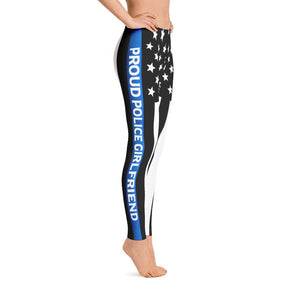 Thin Blue Line Police Girlfriend Leggings | Heroic Defender