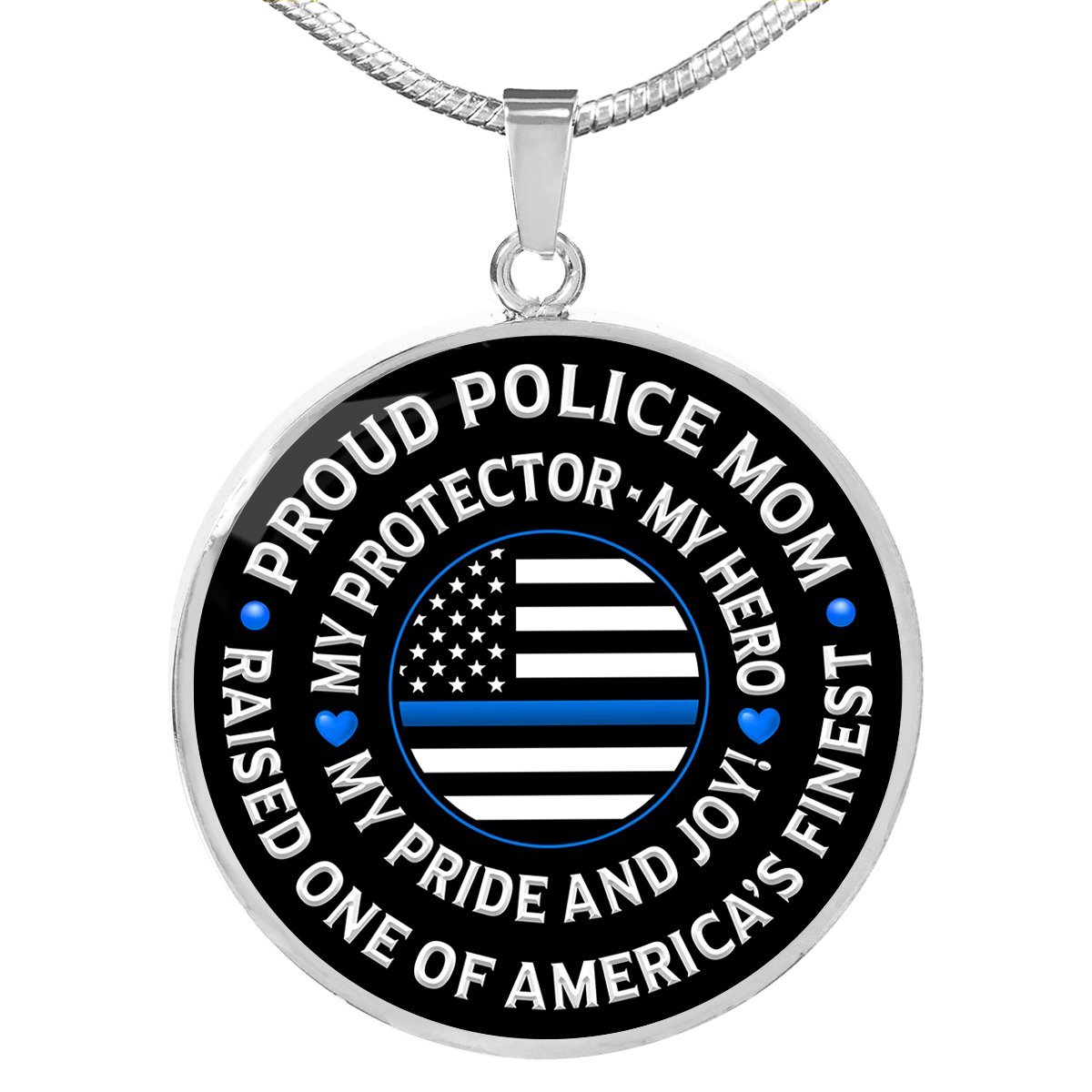 "Police Mom ""Pride and Joy"" Necklace 