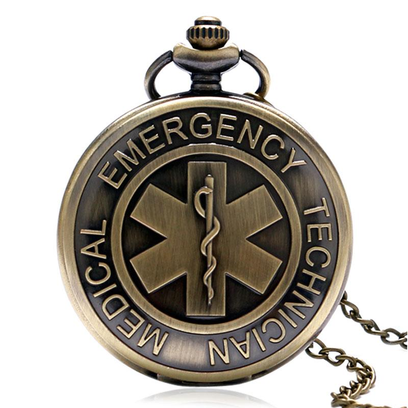 Vintage Bronze EMT Paramedic Pocket Watch | Heroic Defender