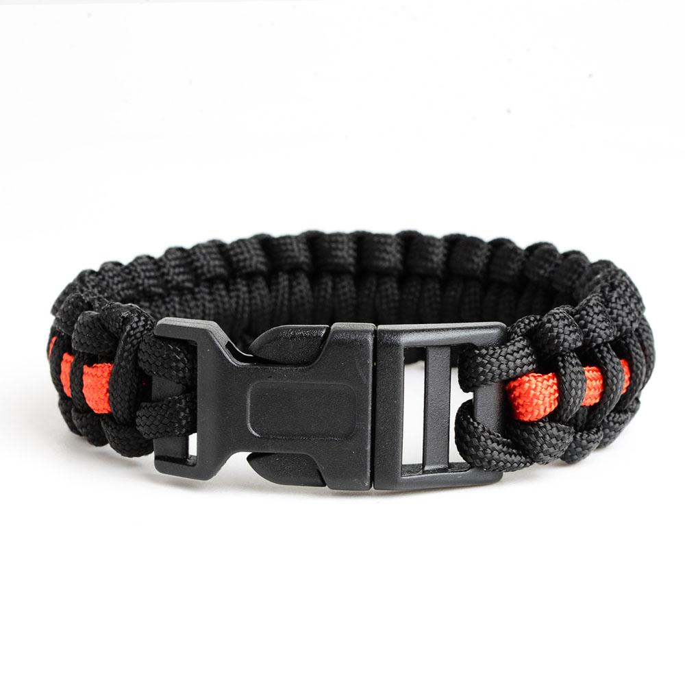 Thin Red Line Paracord Survival Bracelet | Heroic Defender