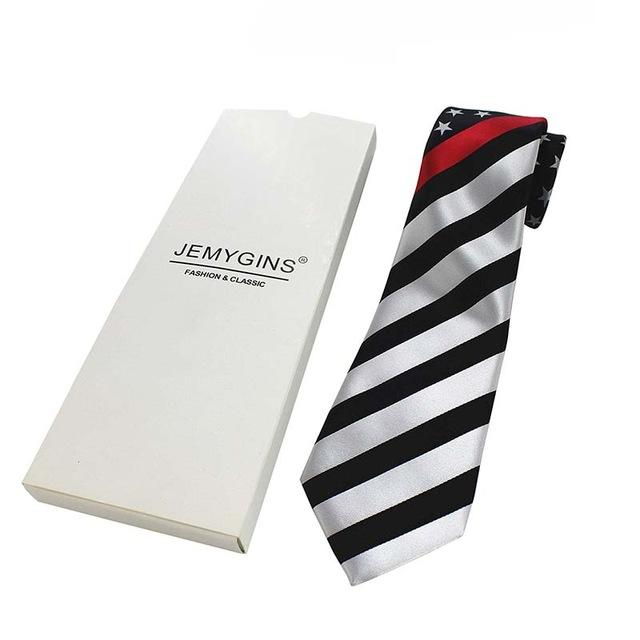 Thin Red Line Flag Neck Tie | Heroic Defender