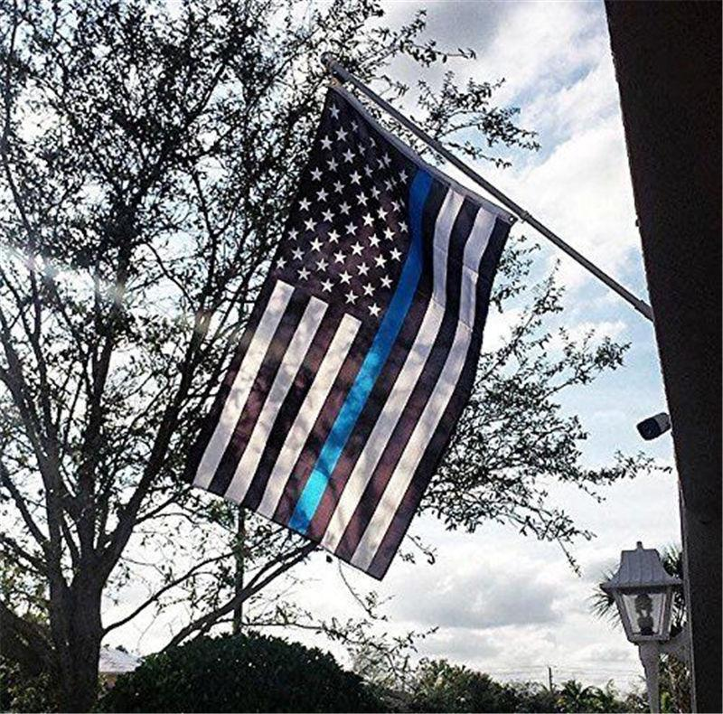 Thin Blue Line Police Flag | Heroic Defender