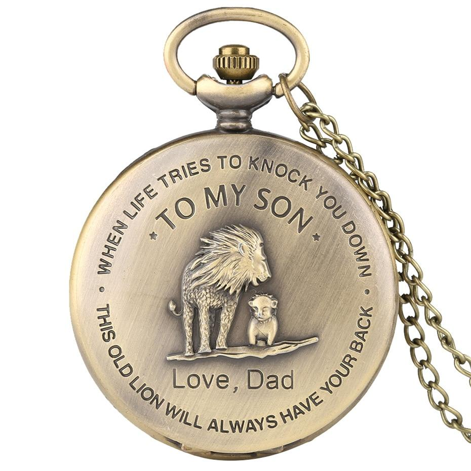 "This Old Lion ""Dad To Son"" Pocket Watch 