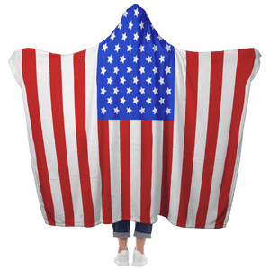 American Flag Hooded Blanket | Heroic Defender