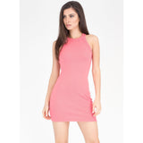 Easy Going Rib Knit Racerback Dress