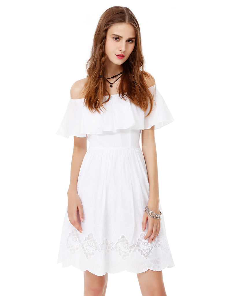Pure Innocence Off Shoulder Casual Dress