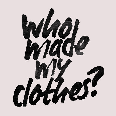 ONE ONE ONE - Who made my clothes? - #FashRev