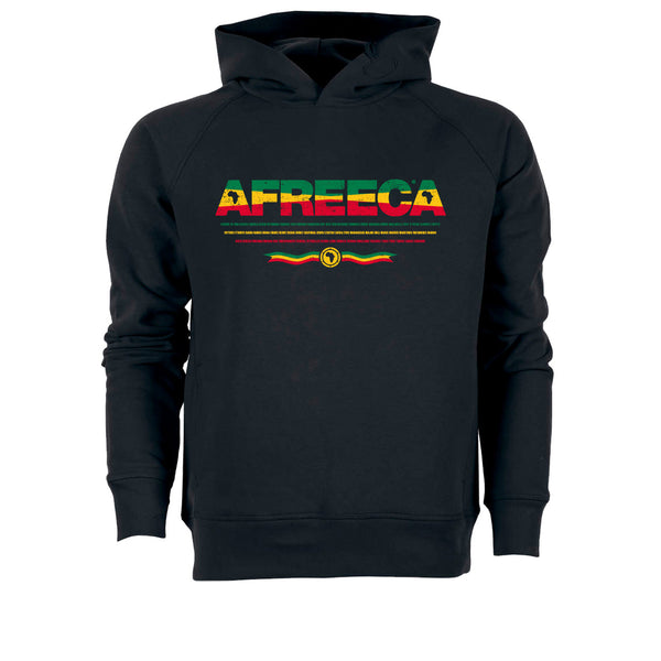 ONE ONE ONE - AFREECA Red Gold Green Hoodie - Black
