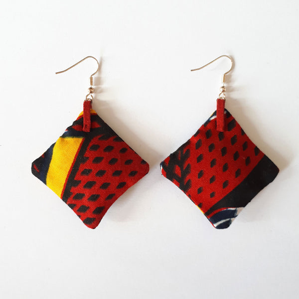 ONE ONE ONE - wax earings Red Hot verso