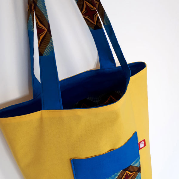 ONE ONE ONE - Tote bag reversible - Java - verso