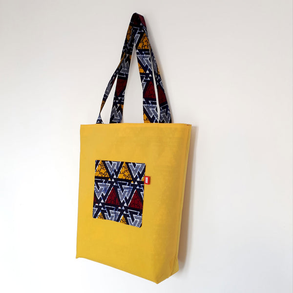 ONE ONE ONE - Tote bag wax reversible - Blue Mountains - verso