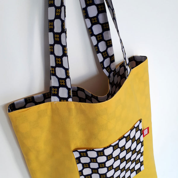 ONE ONE ONE - Tote bag reversible - Domino - Verso