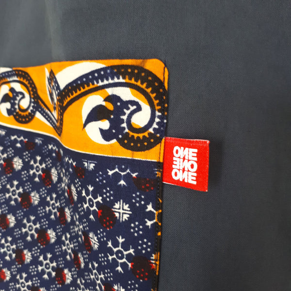 ONE ONE ONE - Tote bag wax reversible - Flocons - verso