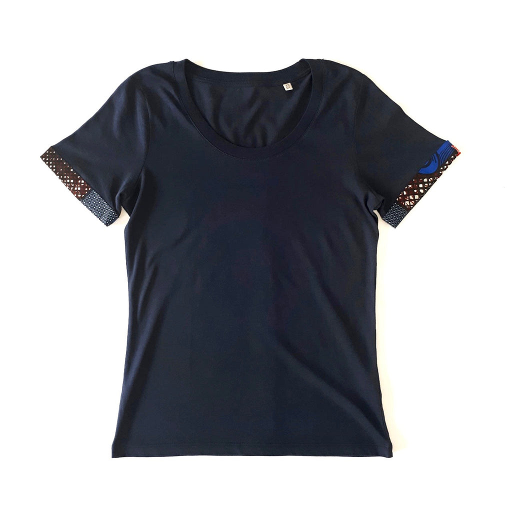 ONE ONE ONE - Tshirt femme ourlet wax - choco