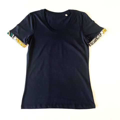 ONE ONE ONE - Tshirt femme ourlet wax upcyclé - Marble