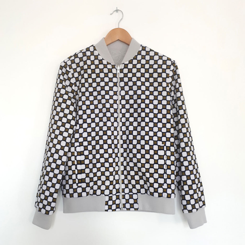 ONE ONE ONE - Bombers wax reversible - Domino - Gris