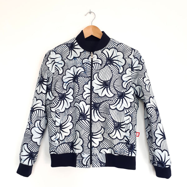ONE ONE ONE - Bombers wax reversible - Flowers - Bleu