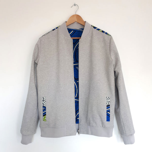 ONE ONE ONE - Bombers wax reversible - Tracks - Gris - verso
