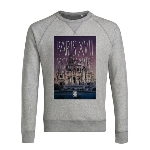 Sweat PARIS XVIII gris