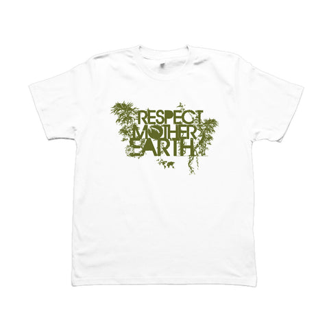 RESPECT MOTHER EARTH - T-Shirt Blanc