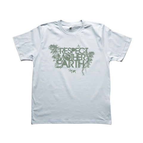 RESPECT MOTHER EARTH - T-Shirt Gris