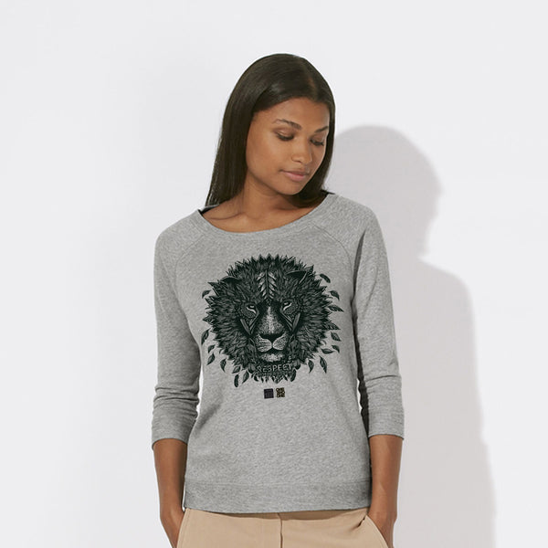 ONE ONE ONE - Lion - V. Hugo - Sweat Femme Tencel