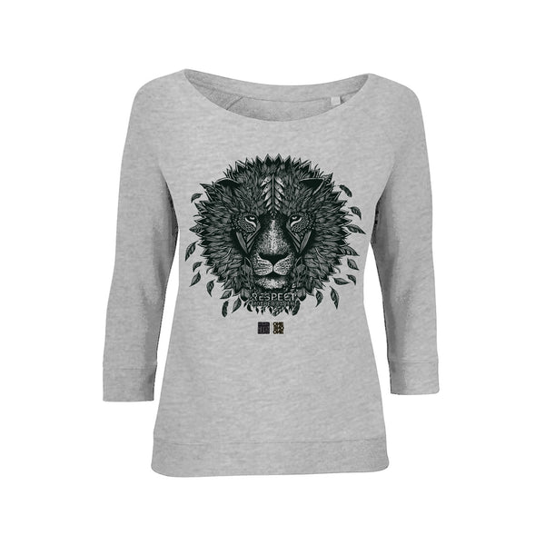 ONE ONE ONE - Lion - Valérie Hugo - Sweat Tencel