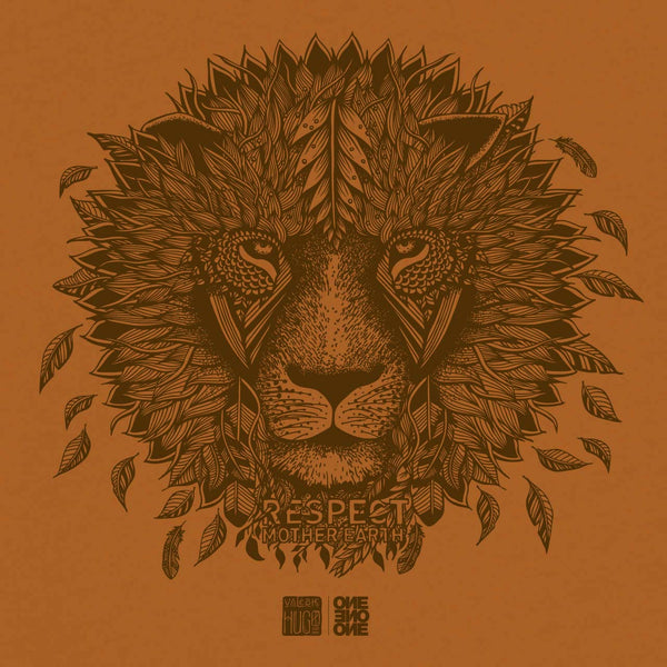 ONE ONE ONE x Valérie Hugo - Lion Respect Mother Earth - Caramel