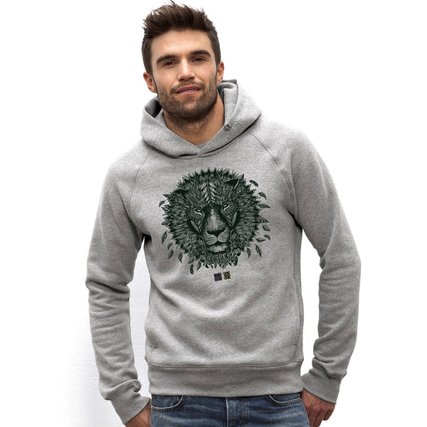 Hoodie ONE ONE ONE - Lion by V. Hugo