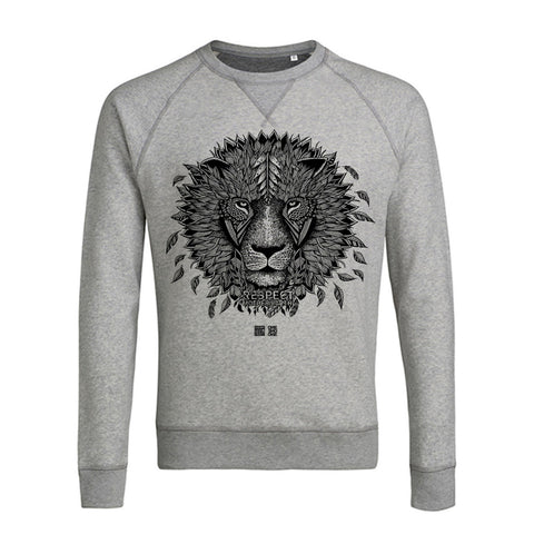 Sweat Homme LION gris