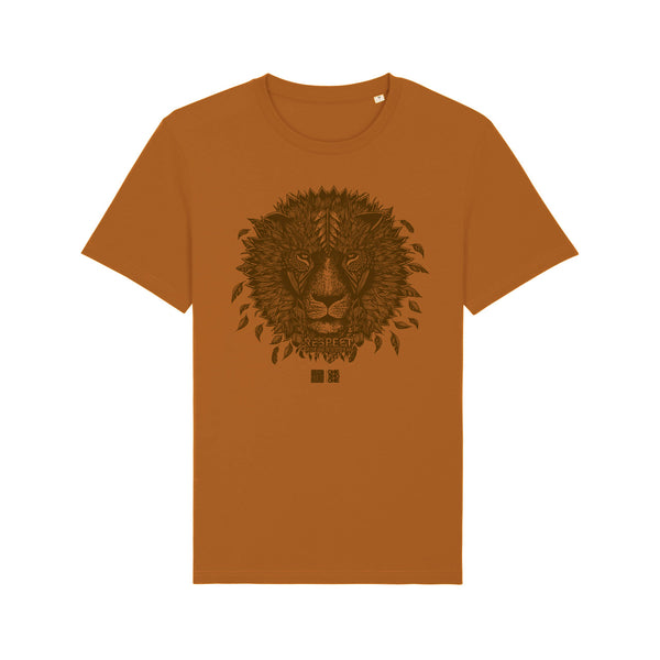 ONE ONE ONE - Tshirt Unisexe - Lion Respect Mother Earth - Caramel