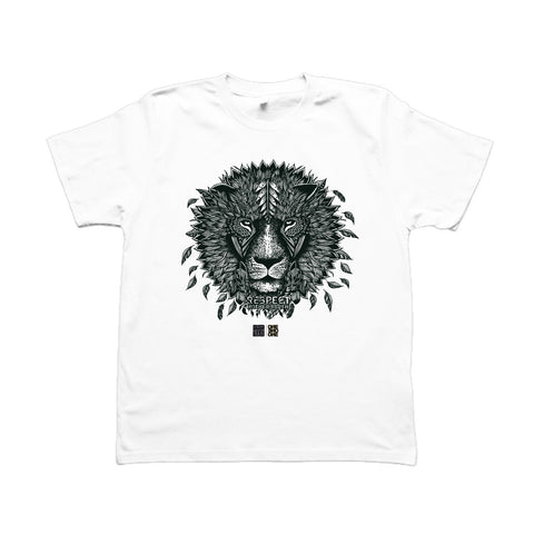 LION - Design by V. Hugo - T-Shirt Blanc