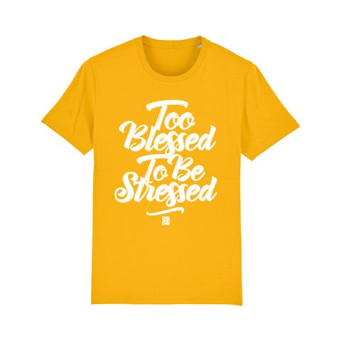 ONE ONE ONE - Tshirt Unisexe - Too Blessed - Jaune
