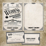 Rustic Country Fair Local Wedding Invitation | Vintage Keepsake Invite | Modern Western | Antique Fonts