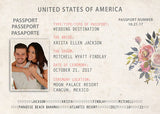 Passport Wedding Invitation Booklets | Real Passport Style | Paradise | Wedding Adventure | Bahamas | Jamaica | Mexico - idowithyouweds