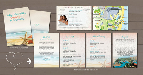 Wedding Passport Itinerary | Destination Wedding Vacation Booklet | Celebrate I Do | Welcome Page | Wishes of Thanks - idowithyouweds